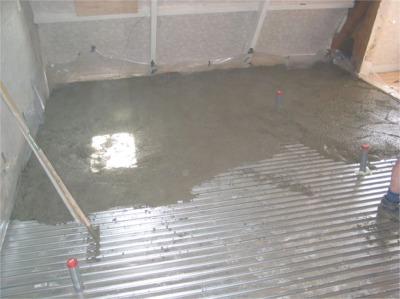 Badkamervloer storten – Materialen voor constructie